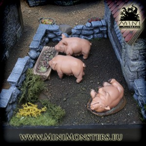 Three Pigs & Trough