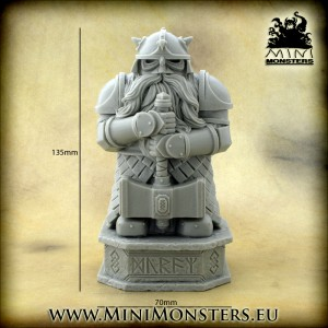 Dwarf Warrior Statue
